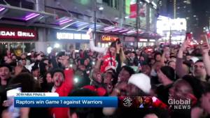 Aftermath of Raptors NBA Finals Game 1 win against Golden State Warriors