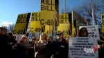 Anger fuelled at pro oil and gas rally in Calgary