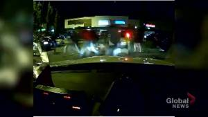 Dash cam footage of shooting that killed Calgary Stampeder