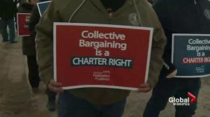 Winnipeg protesters call for right to strike for Canada Post workers