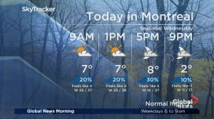 Global News Morning weather forecast: Thursday, November 8