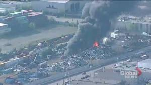 Fire breaks out at Etobicoke scrapyard