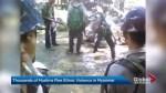 Muslim minorities flee Myanmar as deadly violence erupts