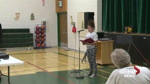 Nobleford students bare soul in raw poetry slam