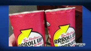 Tim Hortons customers baffled by Roll Up The Rim discovery