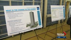 Edmontonians go to open house for proposed high-rise in Old Strathcona