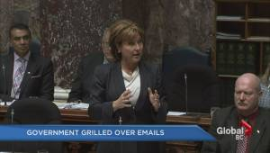 BC government grilled over email scandal