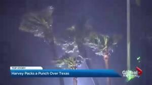 Hurricane Harvey hits Texas coast with category 4 ferocity