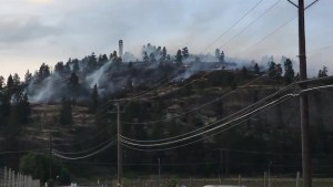 Grass fires branch off below Mission Hill Winery, threatening homes Saturday evening