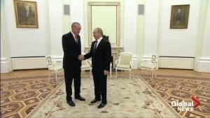 Putin and Erdogan meet in Kremlin to discuss Syria