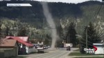 Dust devil captured on camera near Chase, B.C.