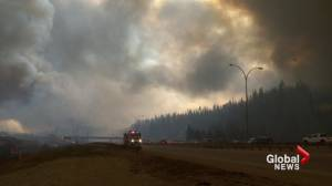 Fort McMurray wildfire: Homes, trailers destroyed by fire (02:21)