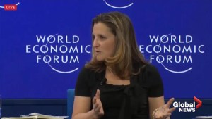 Chrystia Freeland decries rise of populism during appearance at WEF
