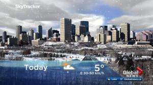 Edmonton early morning weather forecast: Friday, March 23, 2018