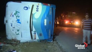 Aftermath of deadly bus crash in Cuba