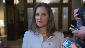 Freeland says U.S. tariffs are illegal, unjustifiable and 'insulting'