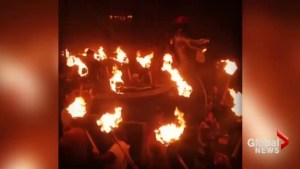 Scotland honours Viking ancestors in Up Helly Aa fire festival