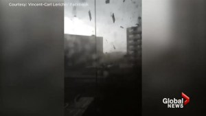 Powerful storm tosses debris into Gatineau building as resident captures tornado on video