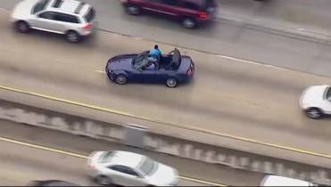 Police chase ends with burglary suspects taking selfies