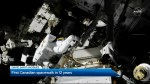 The first Canadian Spacewalk in 12 years