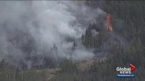Firefighters battling flare-ups at wildfire in Lamont County