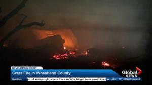 Grass fire in Wheatland County under control