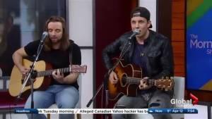 "Eric Ethridge performs 'Liquor's Calling The Shots"" on The Morning Show"