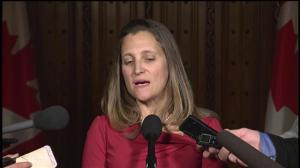 Canada will stand by existing arms agreements despite Saudi journalist death: Freeland