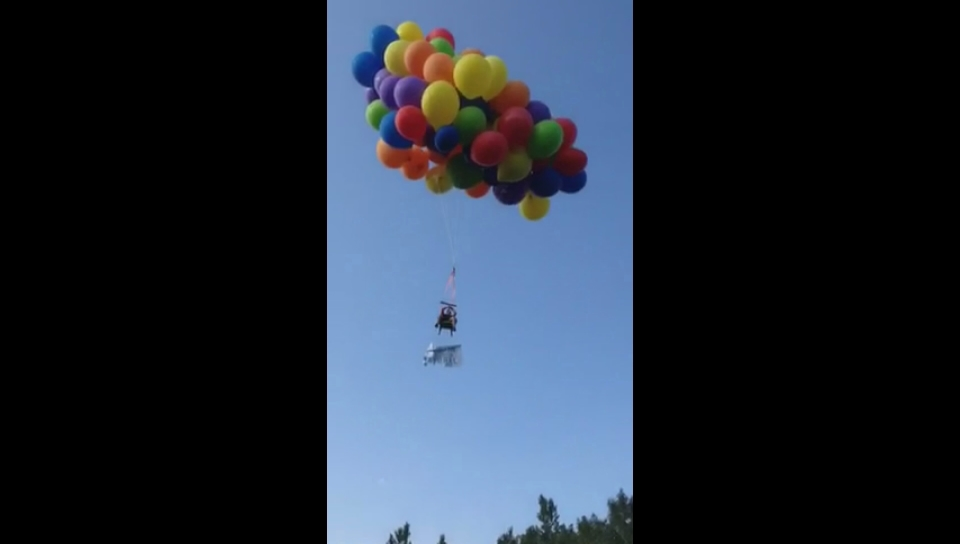 He says the whole thing was overblown and he will have a great story to tell people for the rest of his life. & Calgary balloon man Daniel Boria apologizes for lawn chair flight at ...