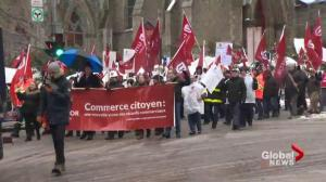 Unifor marches on Montreal demanding better NAFTA deal