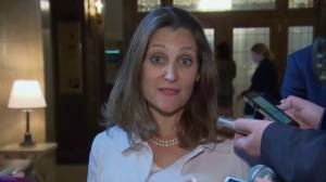 Freeland says 'ad hominem attacks' from U.S. are not appropriate