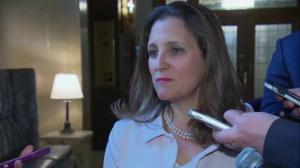 Freeland avoids speaking on 'special place in hell' comment by White House adviser