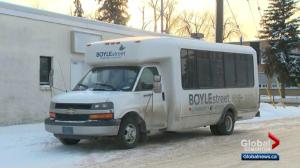 Mobile drop-in shelter: Boyle Street warming bus