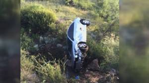 Texas grandmother survives 3 days trapped in car after crash