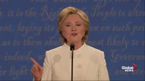 Presidential debate: Hillary Clinton says Donald Trump 'is the only one who has shipped jobs to Mexico'