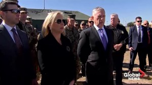 Mattis visits Texas 'to see how the troops are doing who have been deployed'