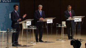 Federal leaders face off in foreign policy debate