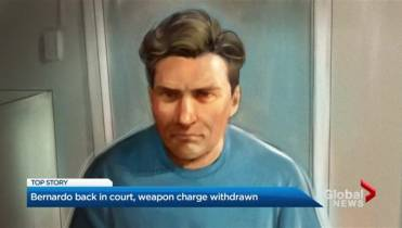 Paul Bernardo has weapons possession charge dropped