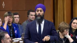 Jagmeet Singh presses Trudeau on prescription drug costs, SNC-Lavalin