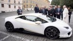 The Pope auctions off his Lamborghini for charity