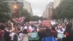 Hundreds gather for protest outside the White House