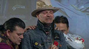 Gord Downie overcome with emotion during AFN ceremony