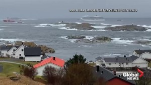 Stranded cruise ship towed to nearby Norwegian port