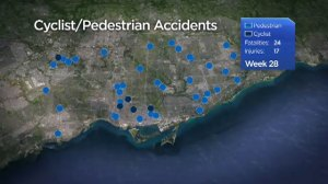 41 Toronto cyclists and pedestrians suffer serious injuries or killed by cars in 2016