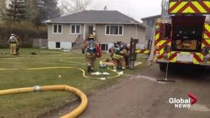 Ground footage of Inglewood house fire