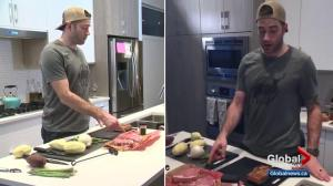 Oilers' Eric Gryba gets grilling with Global News