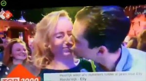 Man rejected on live TV during awkward New Year's kiss