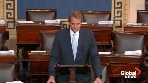 Senator Jeff Flake threatens to block Trump's judicial appointments