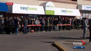 Calgary pot store opens to lines