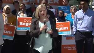Andrea Horwath kicks off provincial election campaign in Scarborough